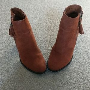 Modcloth Root and Ranch Stacked Hill Bootie